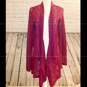 Liz Claiborne long Knit cardigan sweater